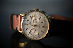 Swiss Emperor Vintage Gold Plated Chronograph Watch - Amazing Condition