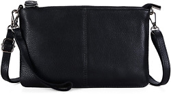 Gostwo Genuine Leather Wristlet Clutch Wallet Purse Small Crossbody Women Bag $17.99