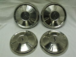 1960 Studebaker Hawk And Lark Set Of 4 Oem 10 Hubcaps Wheel Covers 1549689