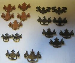 Lot Of 16 Vintage Chippendale Style Bat Wing Drawer Pulls/handles Lqqk