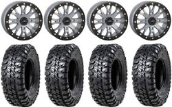 System 3 Sb-4 Grey 4+3 15 Wheels 33 Chicane Rx Tires Rzr Turbo S / Rs1