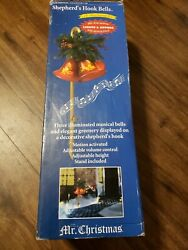 Mr Christmas Musical Shepard Hook Bells Lighted Motion Activated Tested