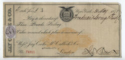 1871 Bill Of Exchange Ny/london Rn-c1 And British Revenue [y5398]