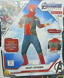 Marvel Spiderman Halloween Costume Avengers Endgame Spiderman Costume Sz M 8 10