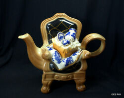 Royal Doulton Teapot Real Old Willow Earthenware By Cardew Design 1998