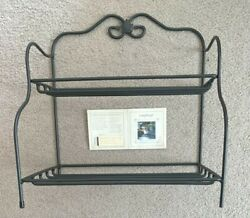 Longaberger Wrought Iron Small Bakers Rack 2 Tier Storage Stand 71641 Euc