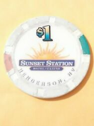 Sunset Station Casino Henderson Nevada 1.00 Chip Great For Any Collection