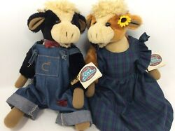 Ganz Cottage Collectible Claramae And Clarence Country Cows Lorraine Chien