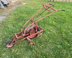 Rare Early 1940s Simplicity Model A Culti-cutter Walk Behind Tractor Cultivator