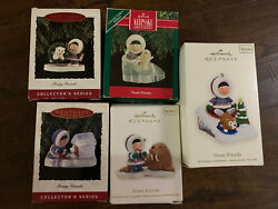 Hallmark Ornament Lot Of 5 Frosty Friends 1990 1993 1994 2008 And 2011