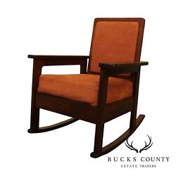 Stickley Brothers Antique Arts And Crafts Period Rocker
