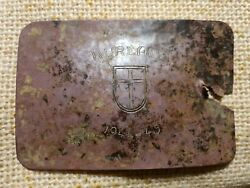 Wwii Ww2 German Soldier Trench Artr From Bunker Kurland 1944-45