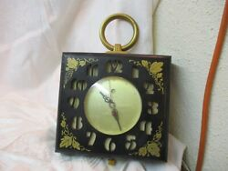 Vintage Telechron General Electric Wall Clock Model 2ha49 With Cutout Numbers