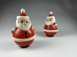 Vintage Hand Painted Santa Claus Salt And Pepper Shakers