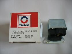 New Nos Gm 1981-82 Corvette Blower Motor Cut Out Relay Delco 15-8189 14036273