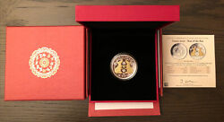 2020 Fiji 1 Oz Silver Year Of The Rat Proof Gold Gilded W/pearl