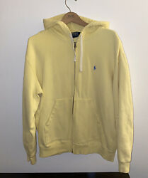 Vintage Polo Hoodie Size Xl Yellow Zip Up