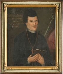 Old Master 18th Century Portrait Painting Of A Religious Leader