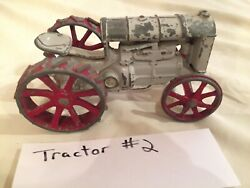 Vintage Diecast Toy - Fordson Tractor - Good Seat - Grey And Red - Not Perfect