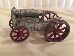 Vintage Diecast Toy - Fordson Tractor - Grey And Red - Not Perfect