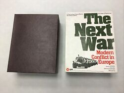 Spi 1978 The Next War - Andnbspmodern Conflict In Europe Board Gameandnbsppunched