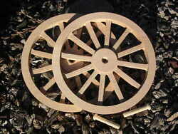Wagon And Cannon Wheels - 8 Inch Diameter Alder - Toy Wood Cart Circus Scale Model