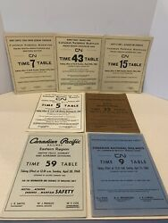 Canadian National Railways Employee Time Table Lot Of 7 1962-1968