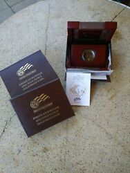 2008-w American Gold Buffalo Proof Box Only And Coa And Original Cap 1/2 Oz 25