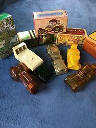 Avon New York Car Shaped Decanters In Original Boxes Lot Of 5 Vintage Vtg