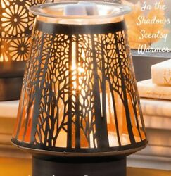 SCENTSY IN THE SHADOWS Wax Melt Warmer Lamp Forest Trees Silhouette Larg NIB