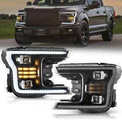 Chrome Housing Headlight Replacement For Ford F150 20182020 Bumper Corner Signa
