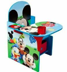 Mickey Mouse Kids Chair Desk Activity Table With Storage Bin Easy To Access New