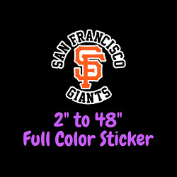 San Francisco Giants Full Color Vinyl Decal | Hydroflask Decal Cornhole Decal 2