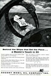 1956 Socony Mobile Oil Co. Vintage Ad Military Aircraft Carrier 00145