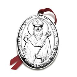 New 2013 Wallace 3rd Annual Saints Series Sterling Christmas Ornament Patrick