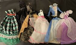 Vintage Barbie Evening And Ball Gowns $20.00