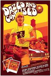 Dazed And Confused Mcconaughey Silk Screen Movie Poster Mondo Kelly /150 S/n