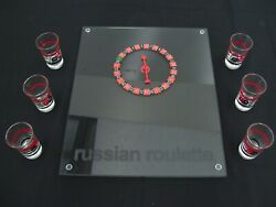 Russian Roulette Drinking Set Glasses Shot Glass Spinner Game Casino Adult Party