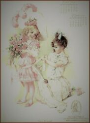 Maud Humphrey | Calendar Page May And June Art Print 12 X 15 Inches W/border