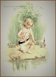 Maud Humphrey | Hobson And The Merrimac Art Print , Size 12 X 15 Inches W / Border