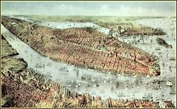 Currier And Ives New York And Brooklyn Art Print
