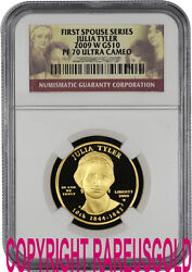 2009 Julia Tyler 10 Ngc Pf 70 First Spouse Proof Gold Coin Graded Perfect
