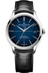 New Baume And Mercier Clifton Baumatic Cosc 5 Day Power Reserve Blue Dial M0a10467