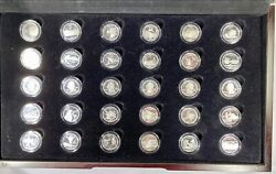 2009 Us State Quarters Territories Clad Proof Set With Wood Box 30 Coins Wow