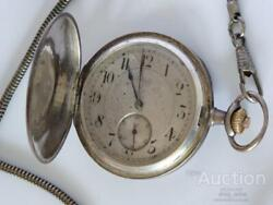Omega 1900 Antique Sterling Silver Mechanical Menand039s Pocket Watch 14jew
