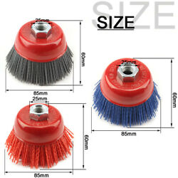 1-3pcs 4 Cup Abrasive Nylon Wire Wheel Brush M14 For Angle Grinder 80/120/240