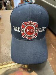 Fire Fd Dept One Size Fits All Blue Hat