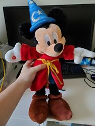 Disney Mickey Mouse Fantasia 22 Inch Plush With Sound Effects Authentic Shipfast