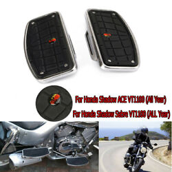 Motorcycle Rear Passenger Driver Floorboards For Honda Shadow Ace Sabre Vt1100