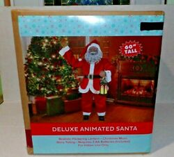 Animated Christmas 5and039 Tall Singing Story Telling Santa Claus Lighted 60 Ethnic